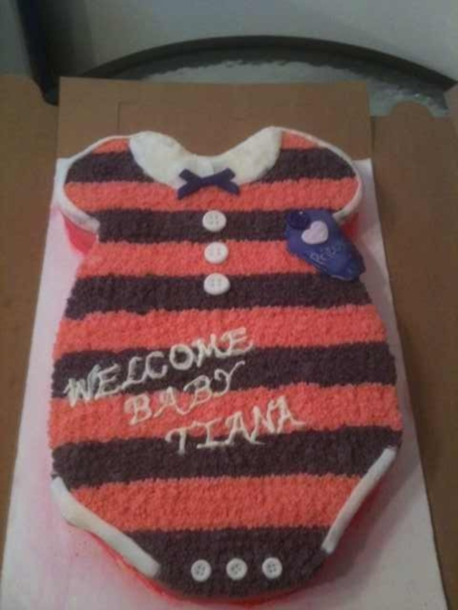 Onesie Baby Shower Cake on Cake Central