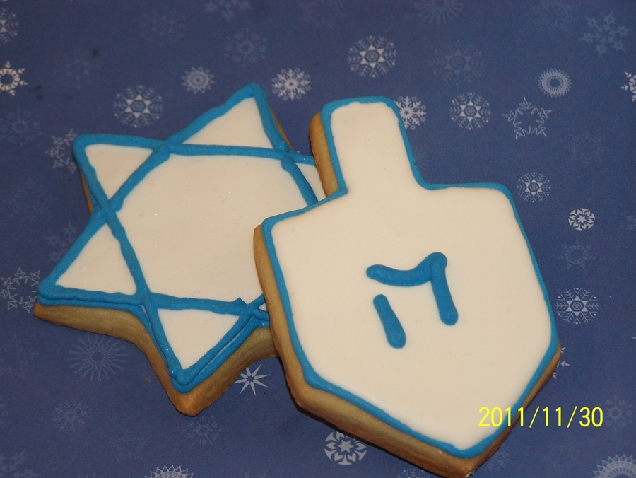 Hannukah Cookies on Cake Central