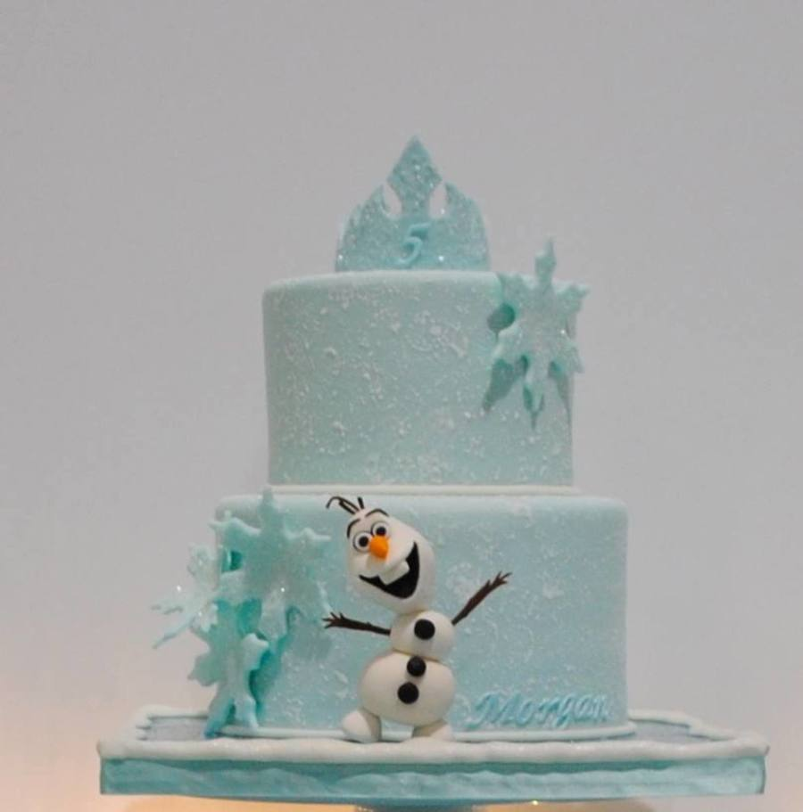 frozen themed birthday cake