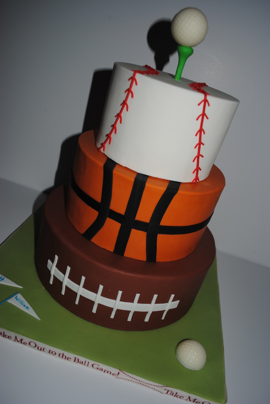 Tremendous Sports Themed Birthday Cake Cakecentral Com Funny Birthday Cards Online Alyptdamsfinfo