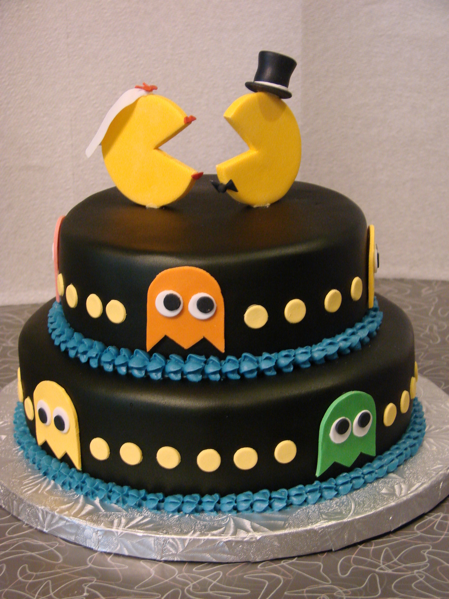 Pac Man Anniversary Cake on Cake Central