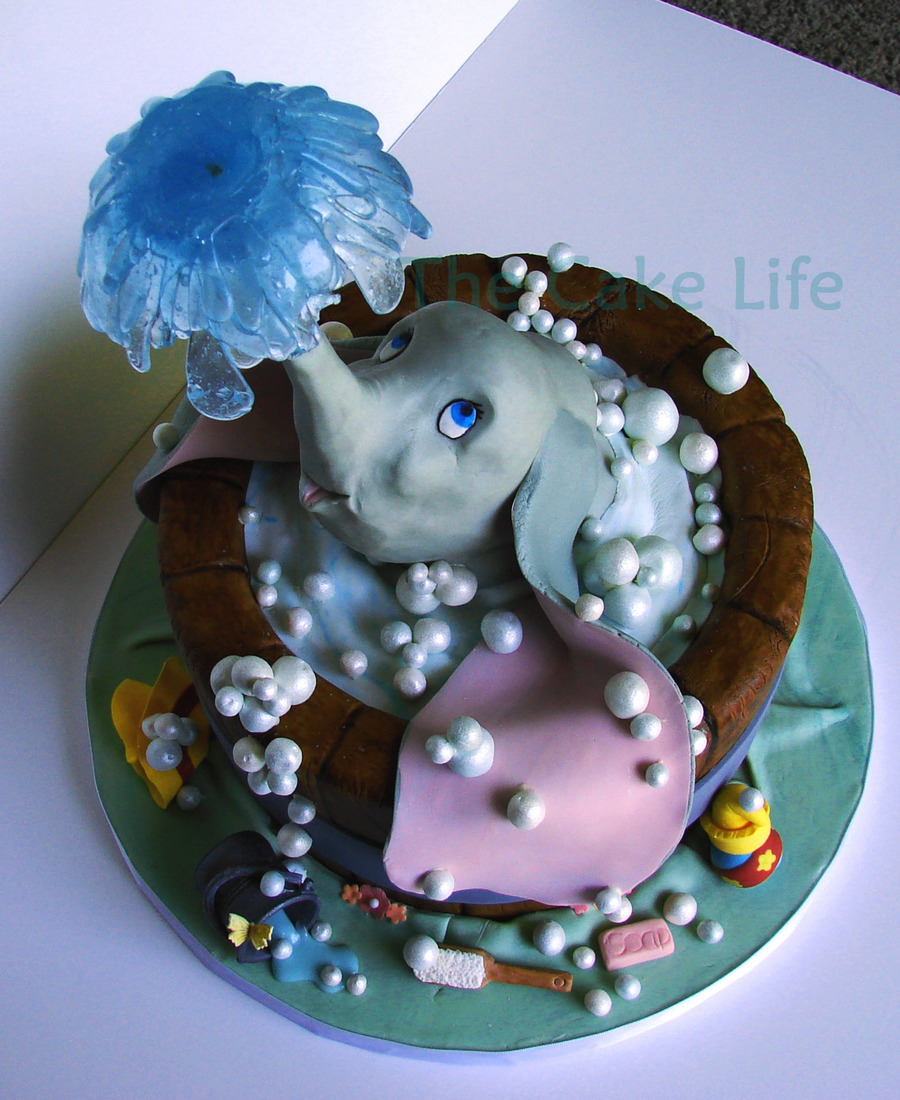 Dumbo In A Tub Baby Shower Cake