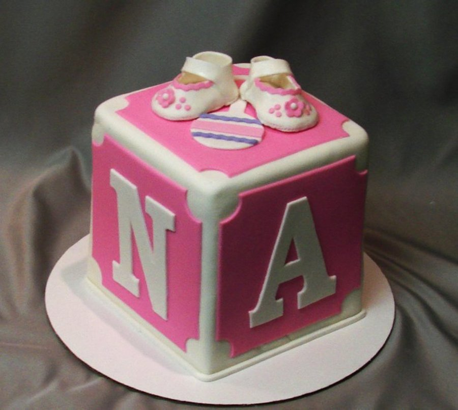 Block Cake For Baby Shower on Cake Central