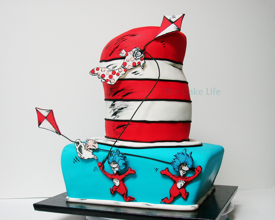 Dr Suess Thing 1 And Thing 2 Baby Shower Cake On Cake Central