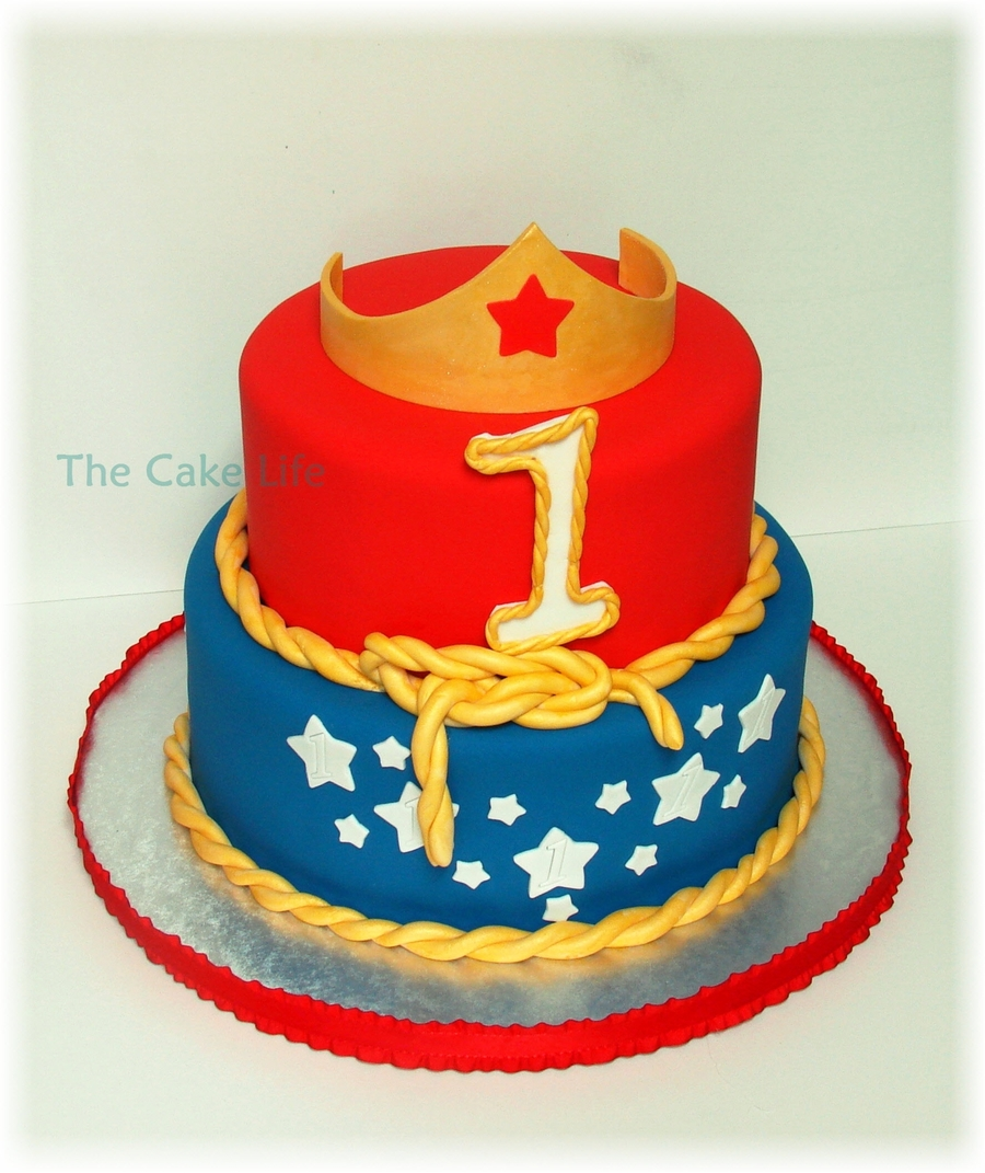 """1""der Woman Birthday Cake on Cake Central"