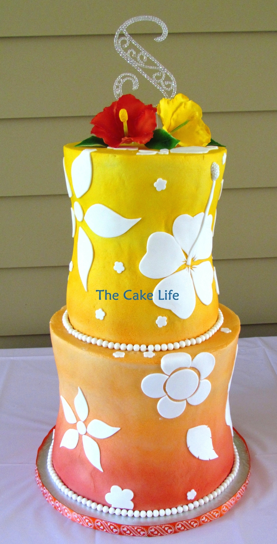 Hawaiian Wedding Cake  on Cake Central