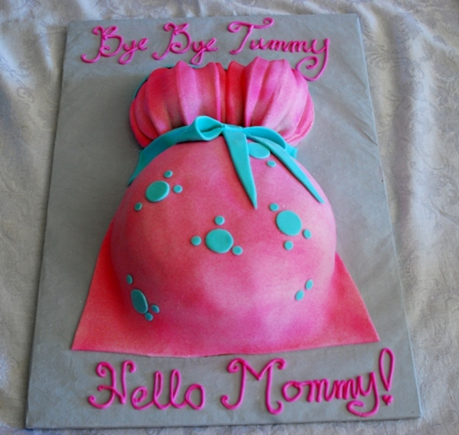 Pink Baby Bump on Cake Central