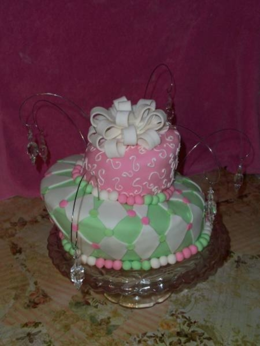 Pink&green Fun on Cake Central