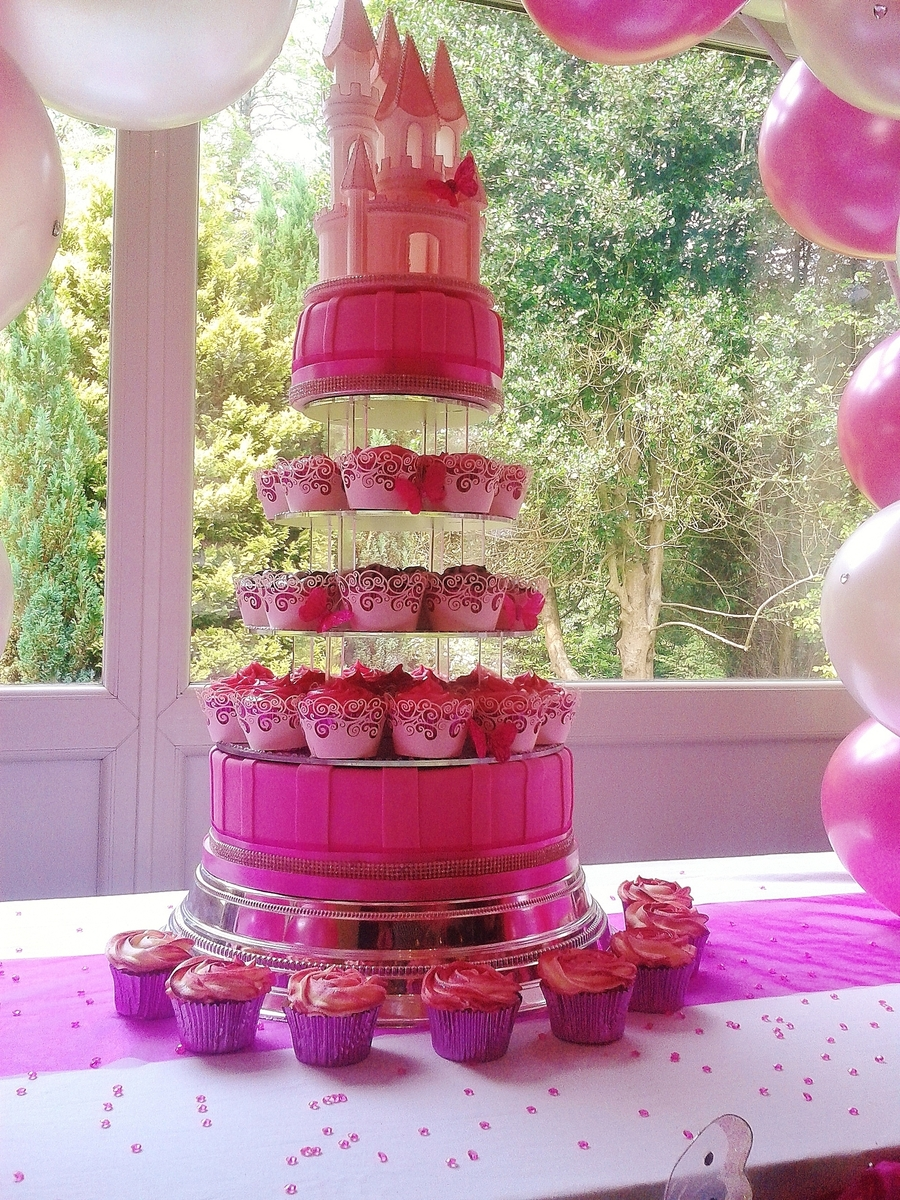 Pink Wedding Castle Cake on Cake Central