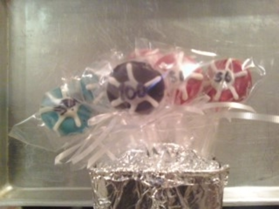 Poker Chip Cake Pops on Cake Central