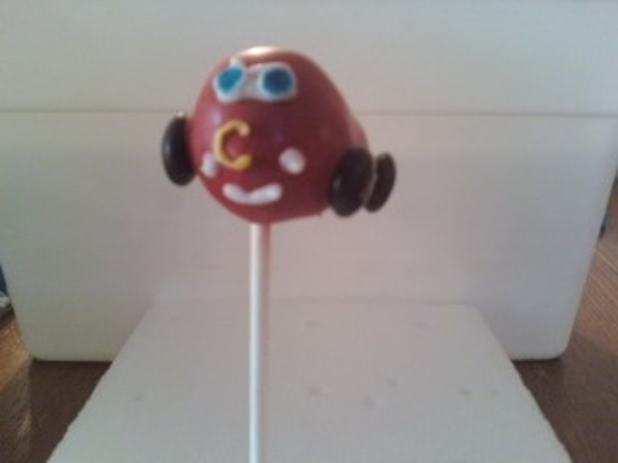 Lightening Mcqueen Cake Pop on Cake Central