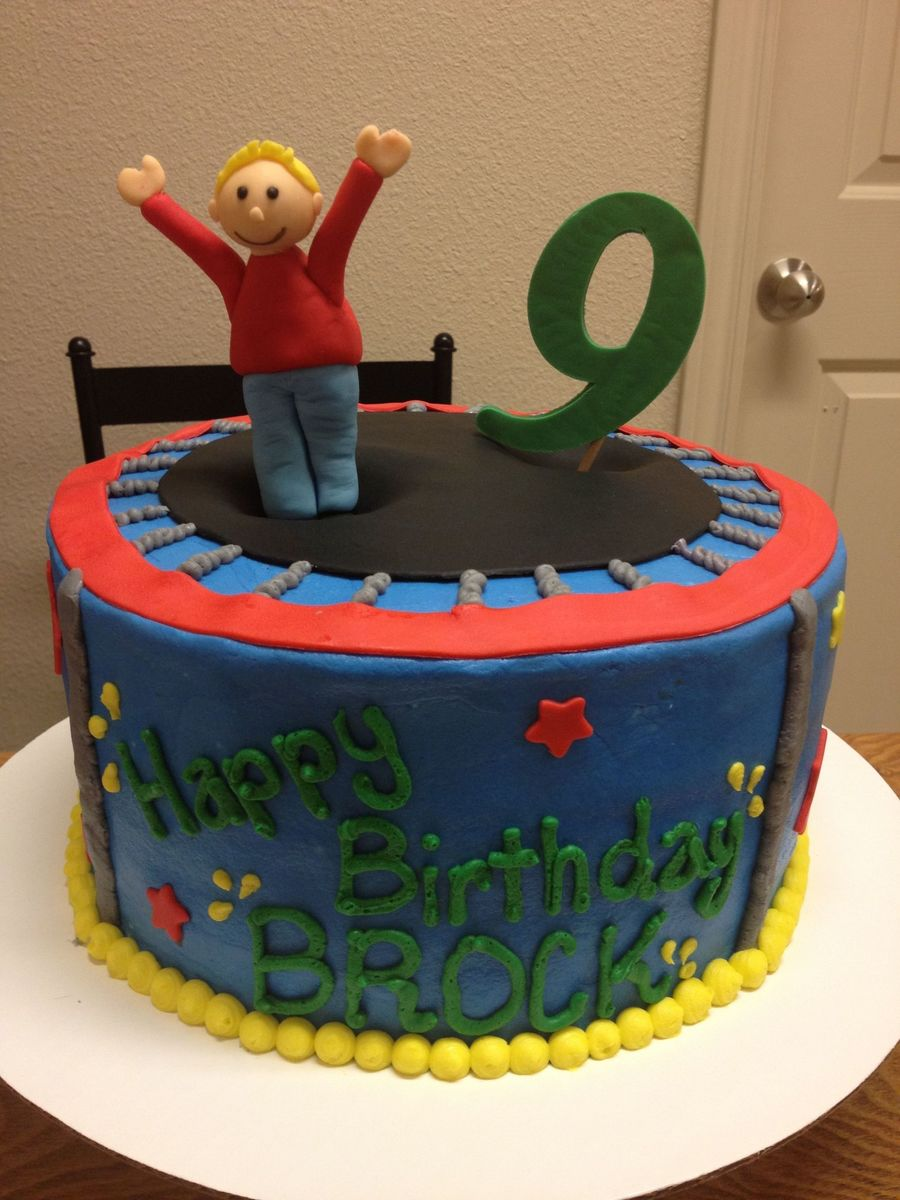 Trampoline Cake With Buttercream And Fondant Cakecentral Com