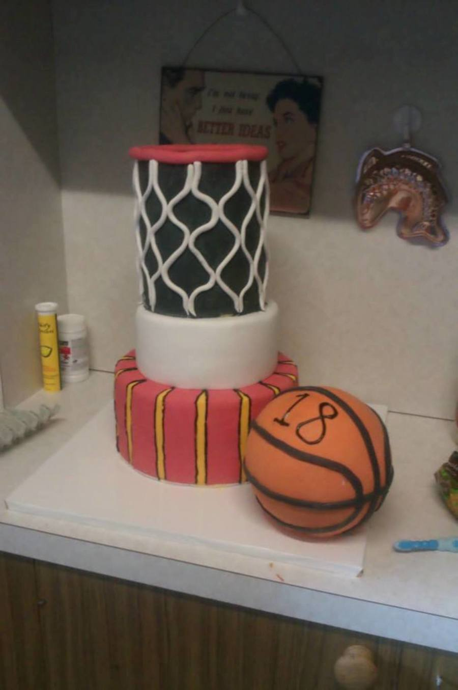18Th Birthday Cake For A Basketball Mad Young Man CakeCentralcom