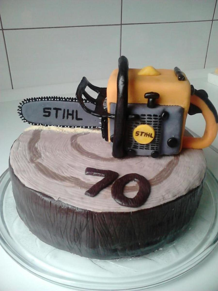 Stihl Chain Saw on Cake Central