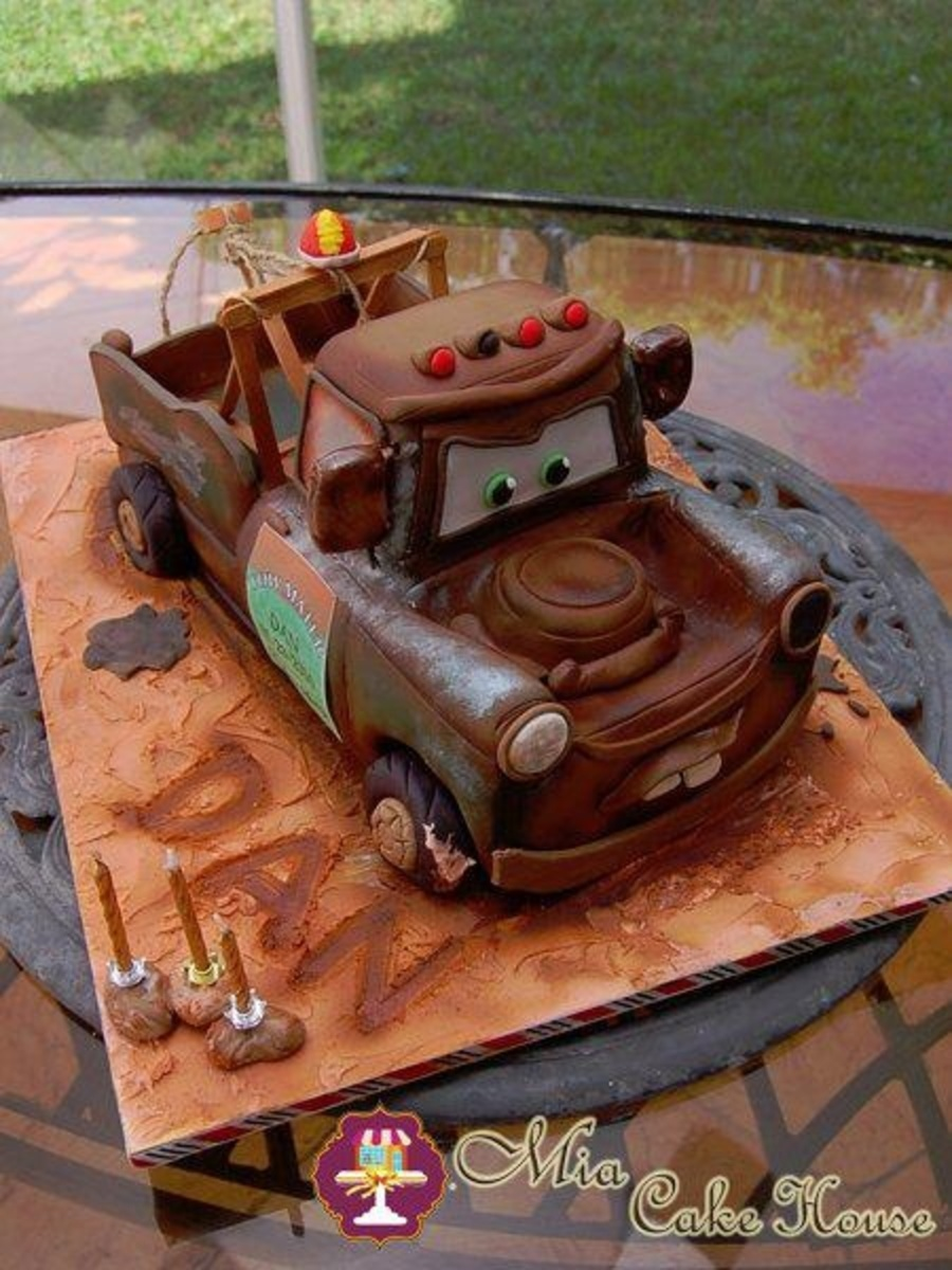 Here Is A Sculpted Tow Mater Cake I Made To My Son For His 3Rd Birthday It Has Lots Of Details That Make It Look Very Realistic One Of Hi on Cake Central