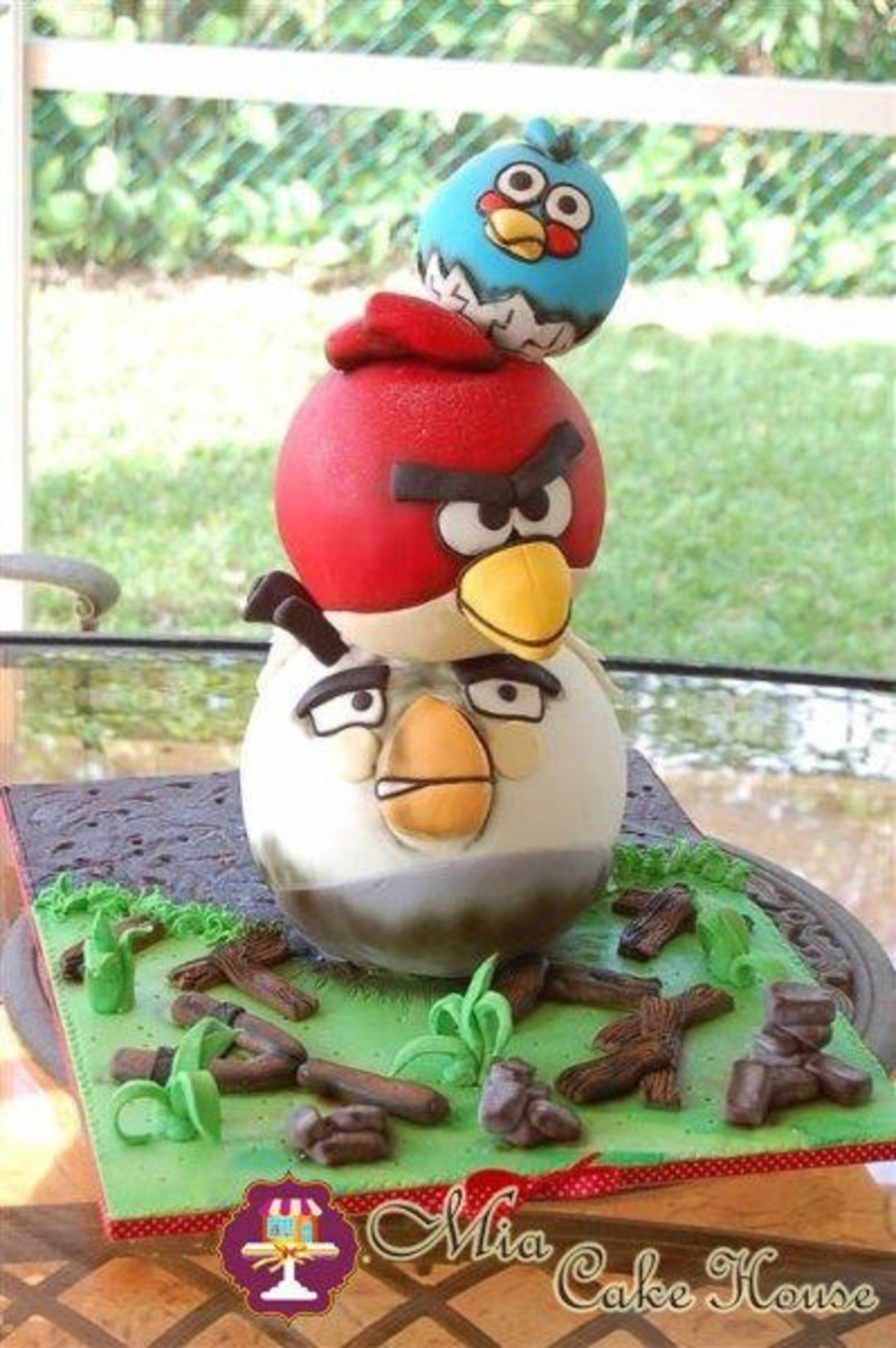 Angry Birds Tower Cake on Cake Central