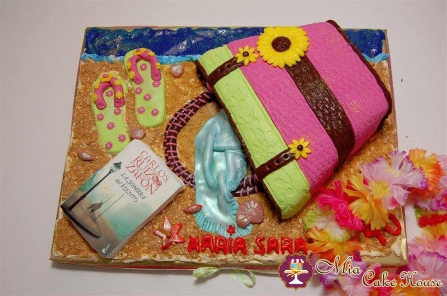 Beach Bag Cake on Cake Central