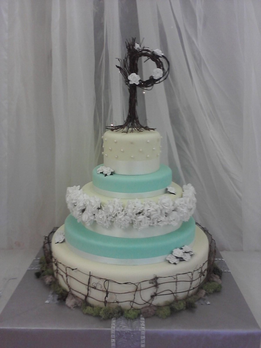 Our Wedding Cake on Cake Central