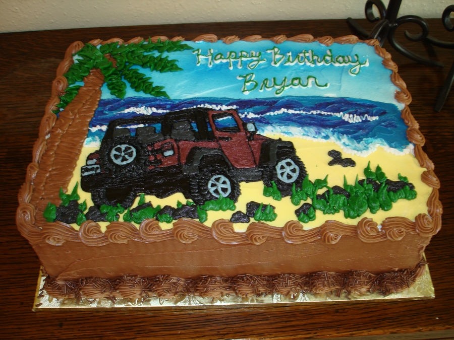 Bryans Birthday Jeep Cakecentral Com