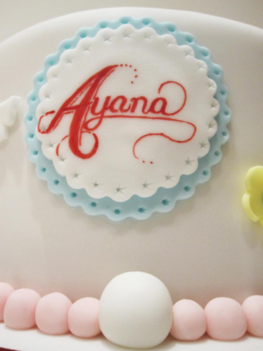 Peppa Pig Chocolate Truffle Torte Cake With Handpainted Name Plate All Edible