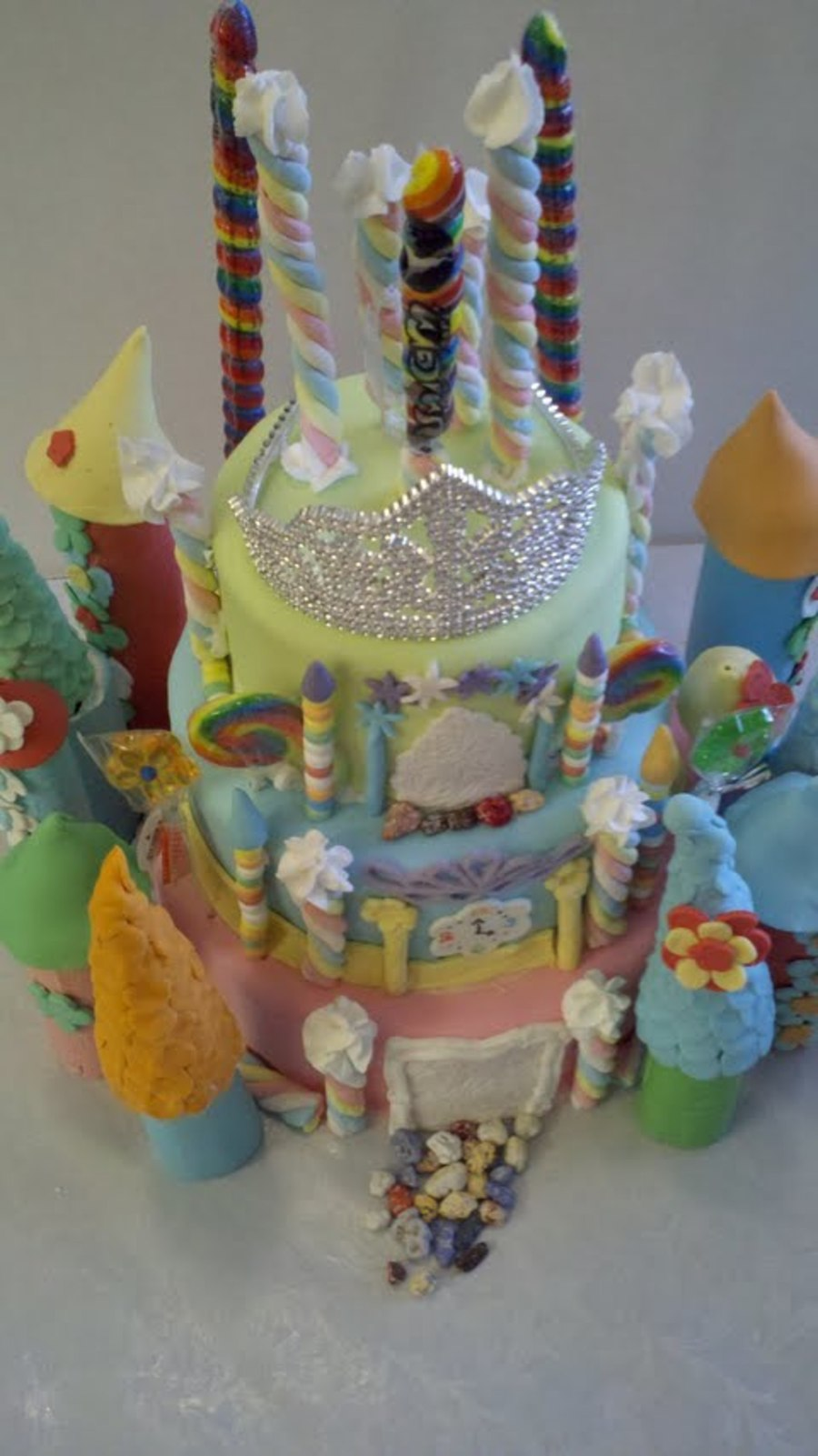 Princess Castle Cake. on Cake Central