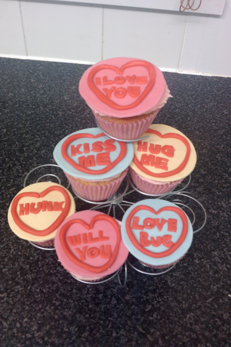 Love Hearts  on Cake Central