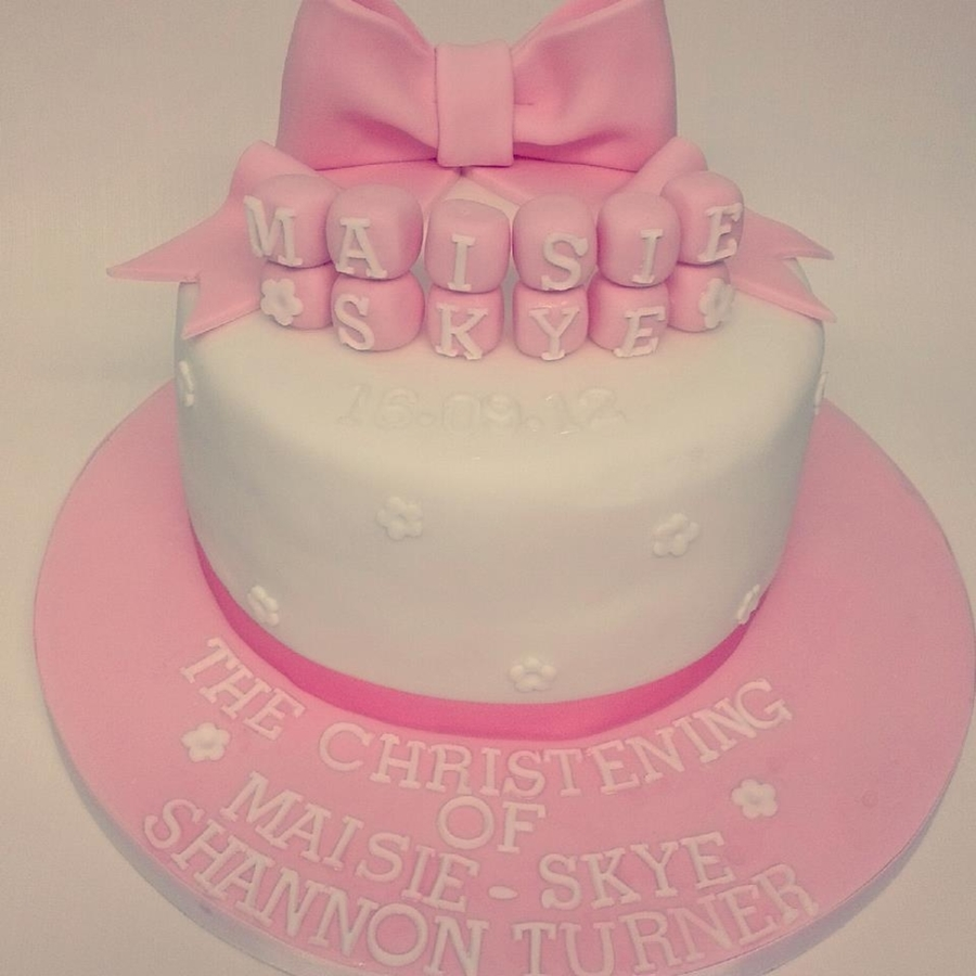 My First Christening Cake  on Cake Central