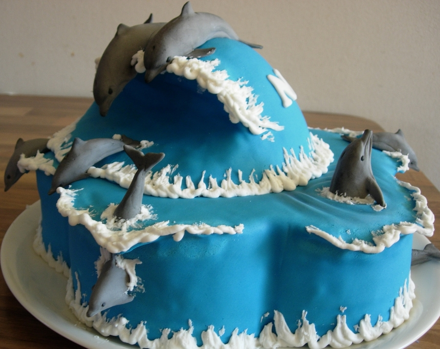 Dolphin Birthday Cake For Our 8 Year Old Daughter Cakecentral