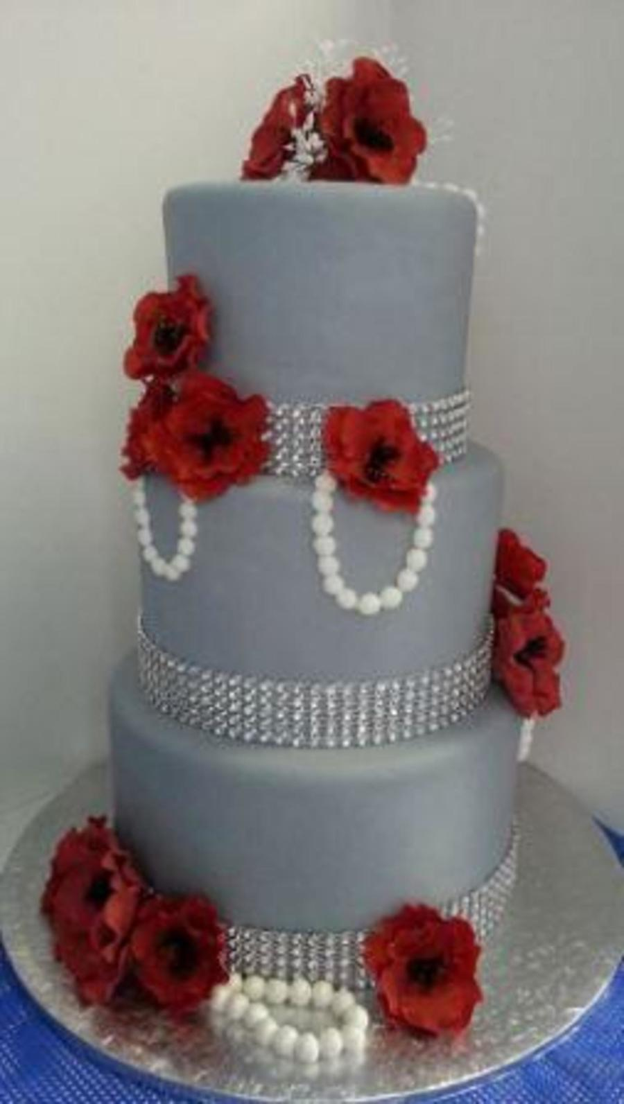 Apple Red Wedding Cakes