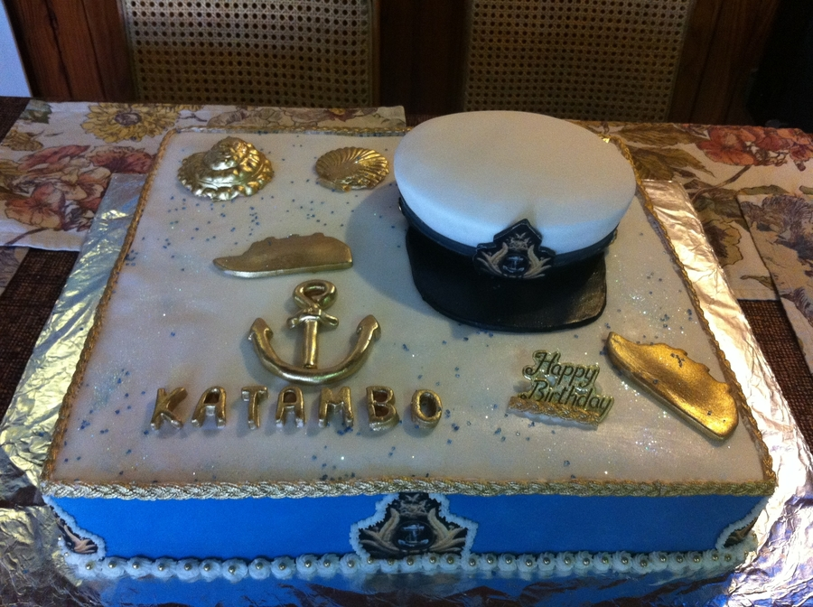 Marvelous In The Navy Birthday Cake Cakecentral Com Funny Birthday Cards Online Fluifree Goldxyz