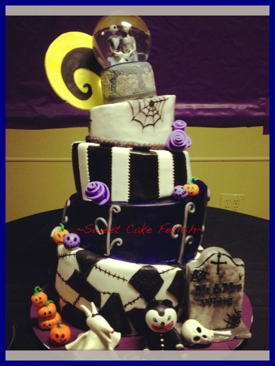 Halloween Wedding (Nightmare Before Christmas)  on Cake Central