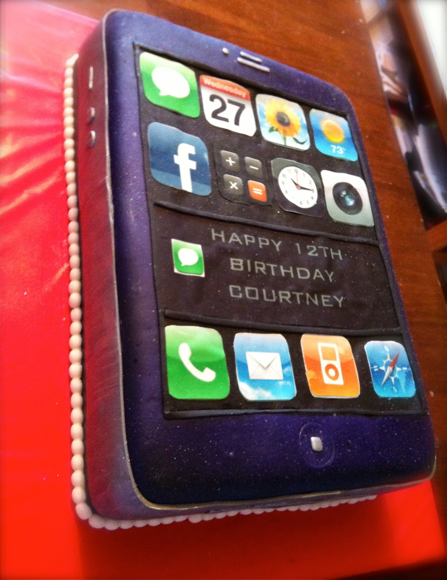 Iphone Cake CakeCentralcom