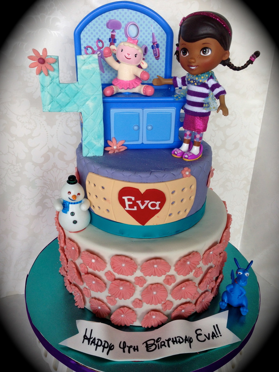 Doc Mcstuffins Cake For A Special 4th Birthday Cakecentral