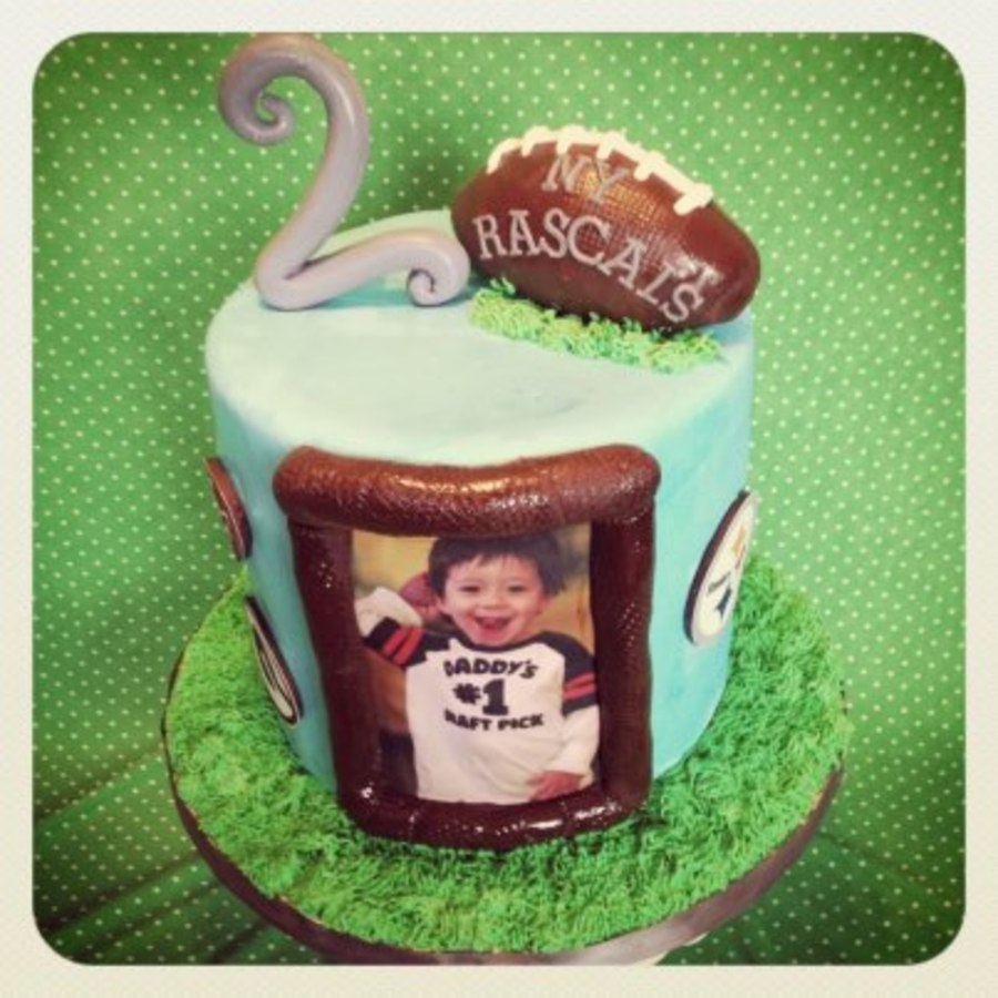 Football Theme 2Nd Birthday!  on Cake Central