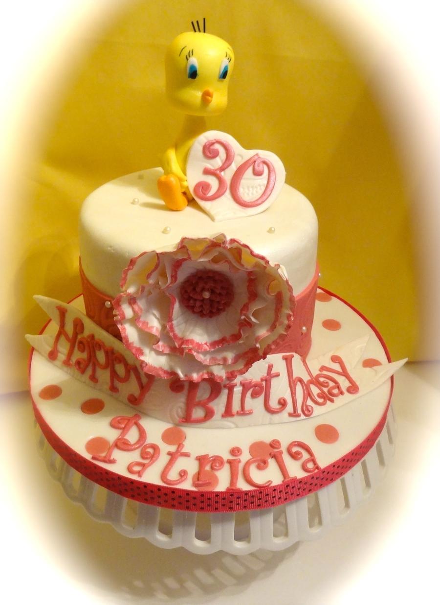 Marvelous Tweety Bird 30Th Birthday Cakecentral Com Funny Birthday Cards Online Kookostrdamsfinfo