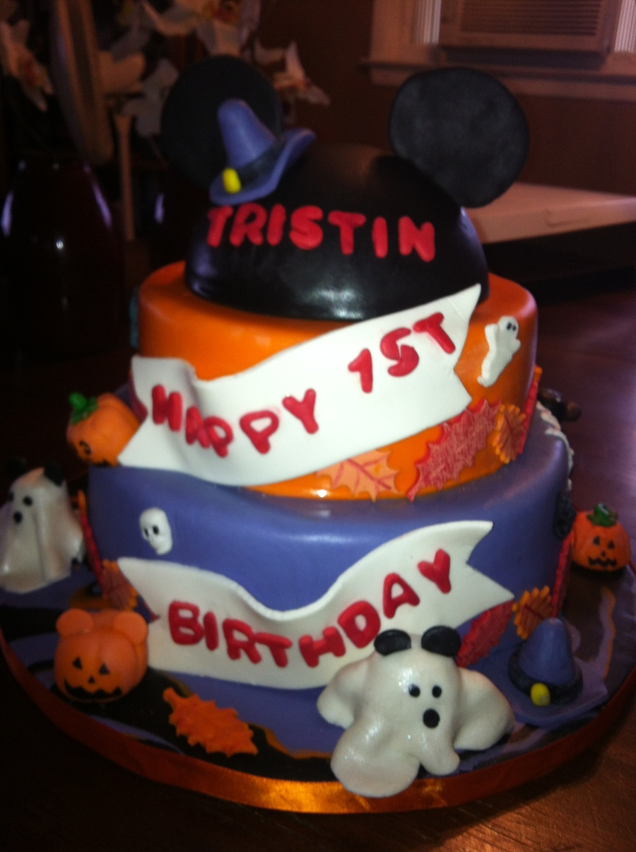 Mickey Mousehalloween First Birthday Cakecentral