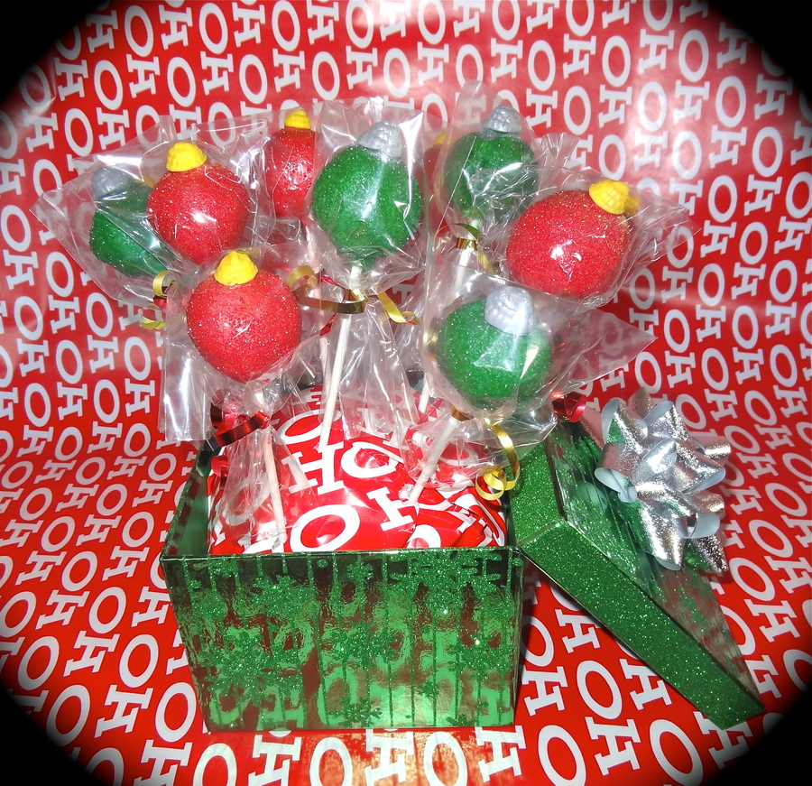 Ornament Cake Pops on Cake Central