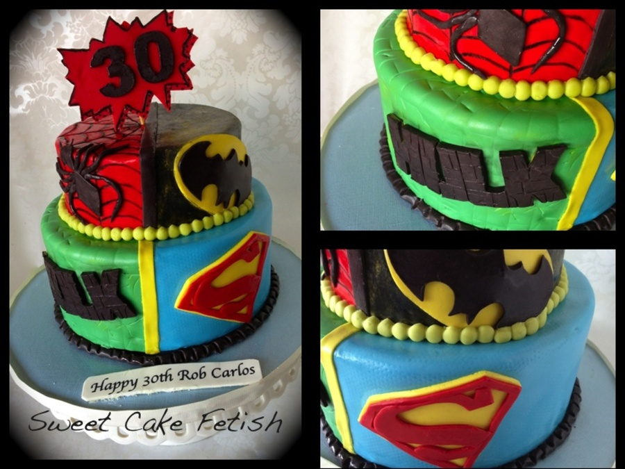 Super Hero 30Th Birthday on Cake Central