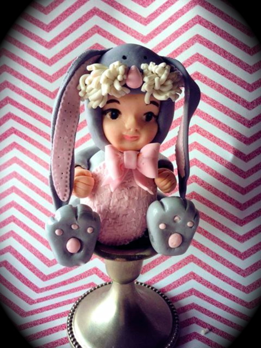 Baby Girl Bunny Im Made For An Upcoming Baby Shower Cake on Cake Central
