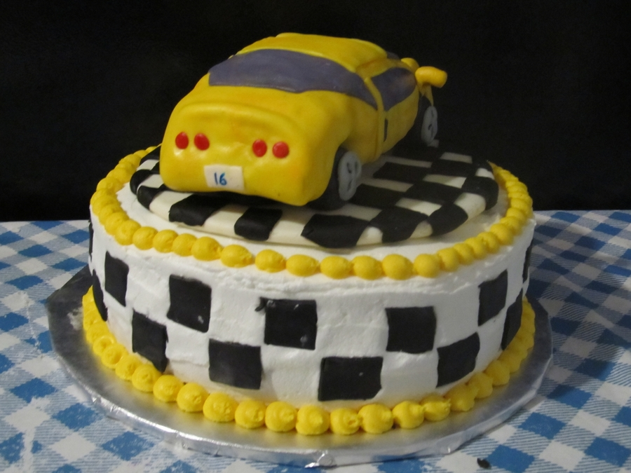 Corvette Cake CakeCentralcom