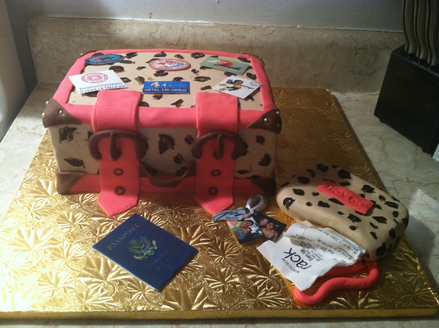 Leopard Luggage Cake on Cake Central