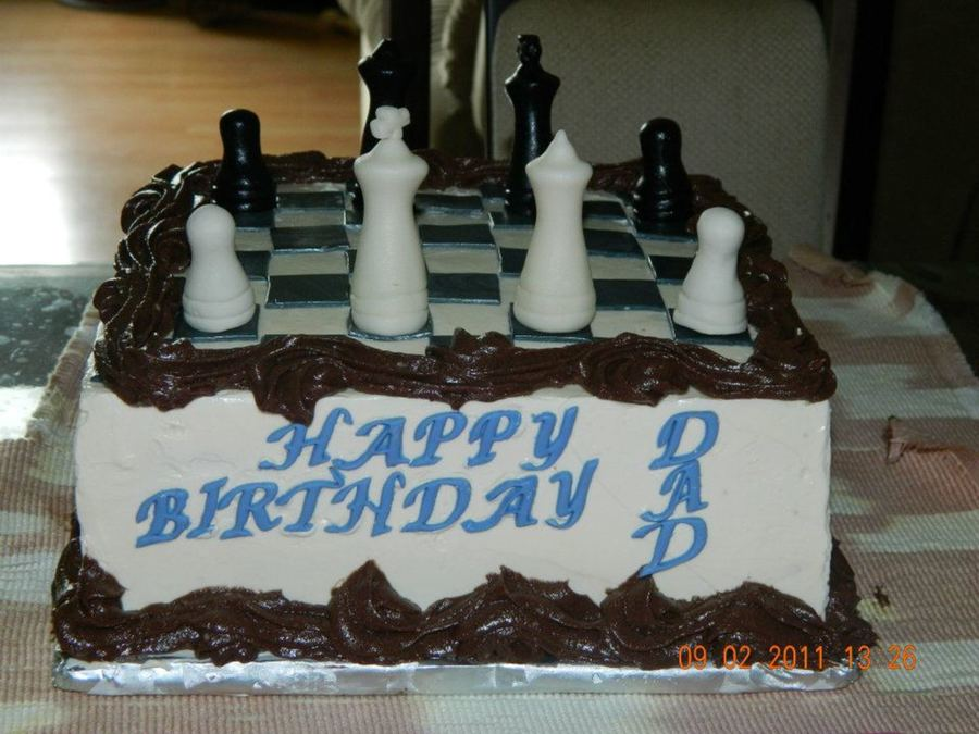 Chess Cake For Dad on Cake Central