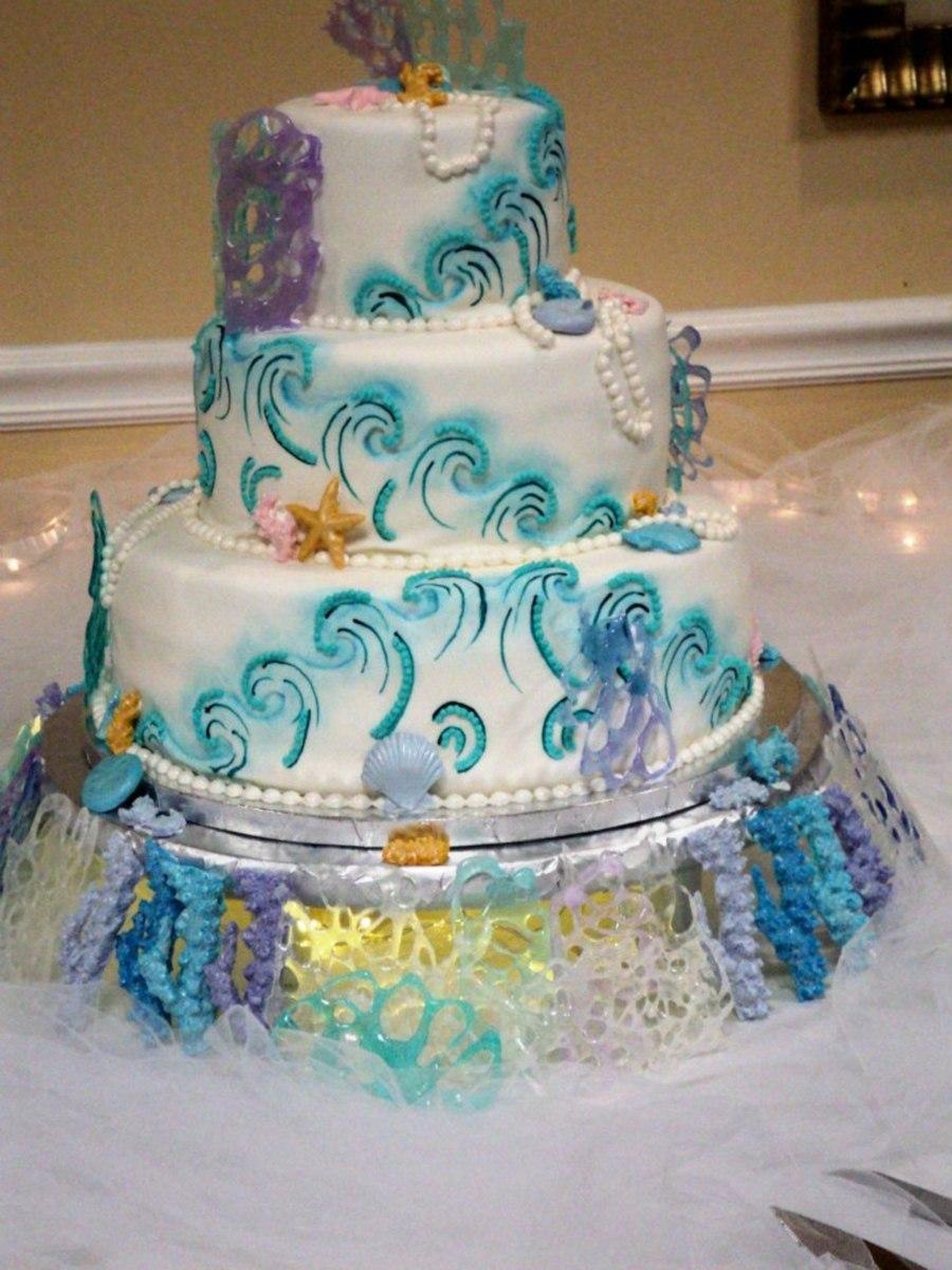 Under The Sea Wedding Cake Cakecentral Com