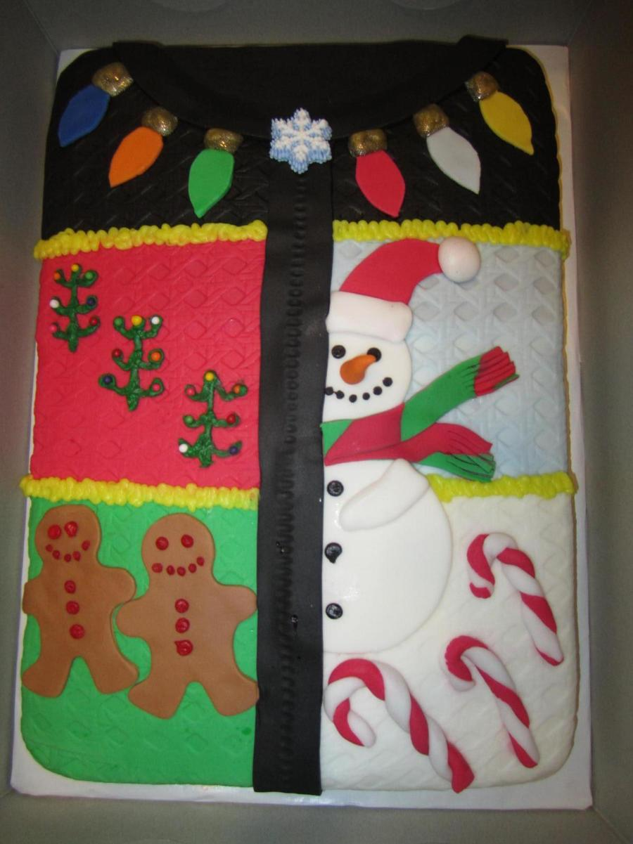Ugly Christmas Sweater Cake  on Cake Central