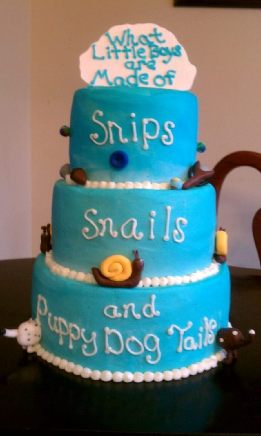 Snips Snails And Puppy Dog Tails  on Cake Central