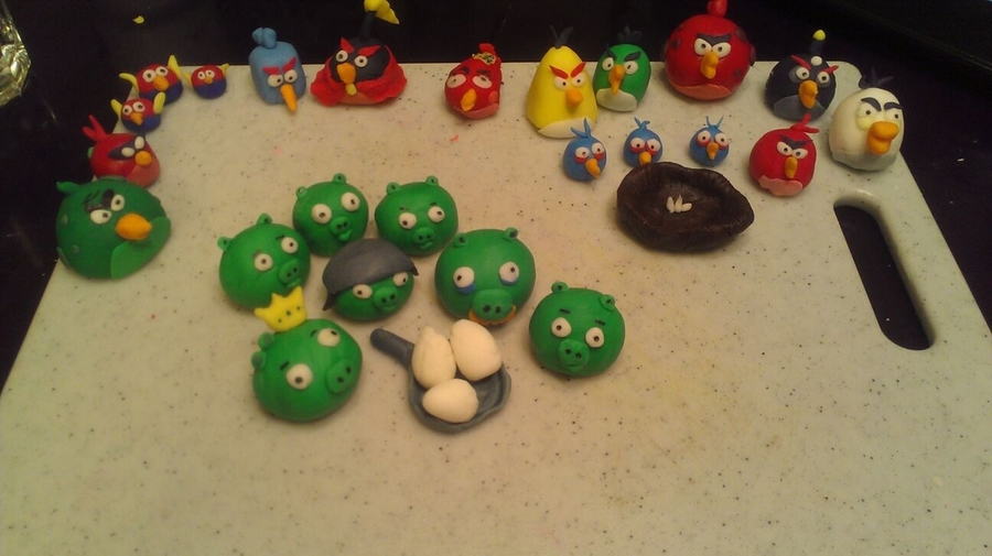 Handmade Angry Birds on Cake Central