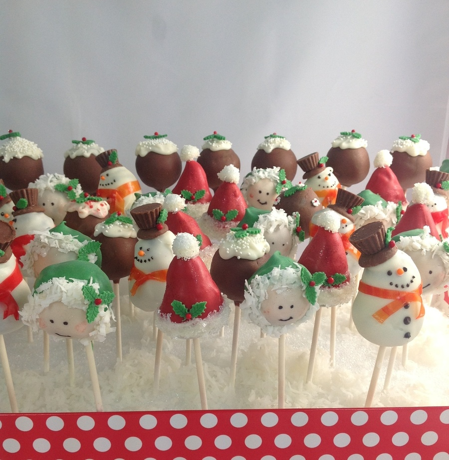 Christmas Party Cake Pops on Cake Central