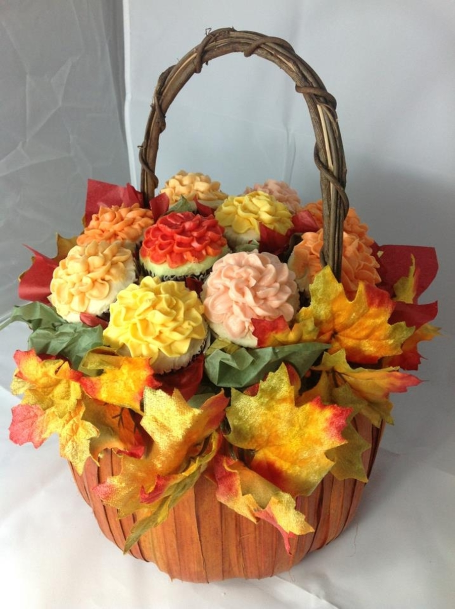 Fall Cupcake Bouquet on Cake Central