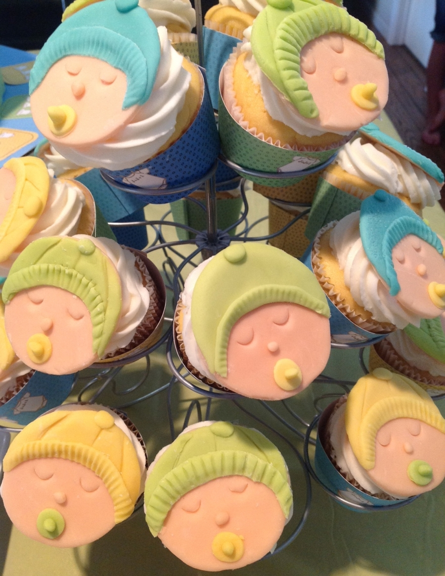 Baby Faces Cupcakes  on Cake Central