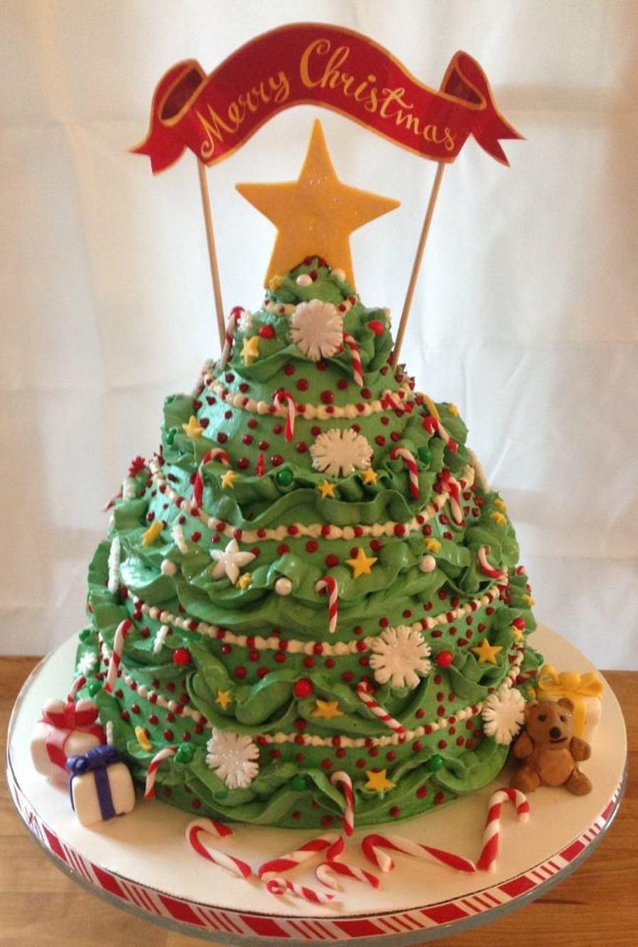 Make Christmas Tree Cake Decoration : Christmas Tree - CakeCentral.com